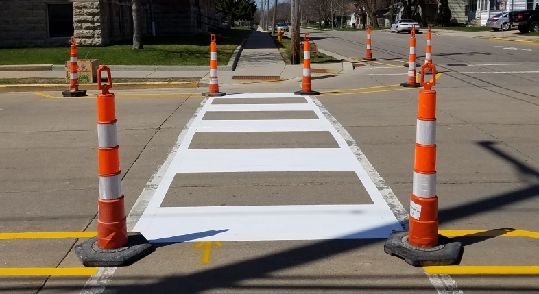 Pop-Up Crosswalk