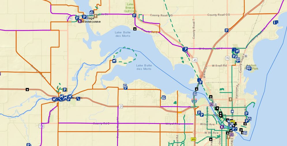 Winnebago County Biking and Walking Map